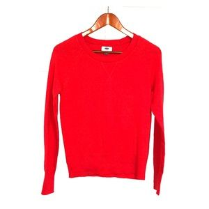 OLD NAVY Women's Red Crewneck Knit Sweater